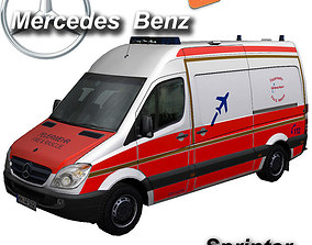 3D model Mercedes-Benz Sprinter rescue