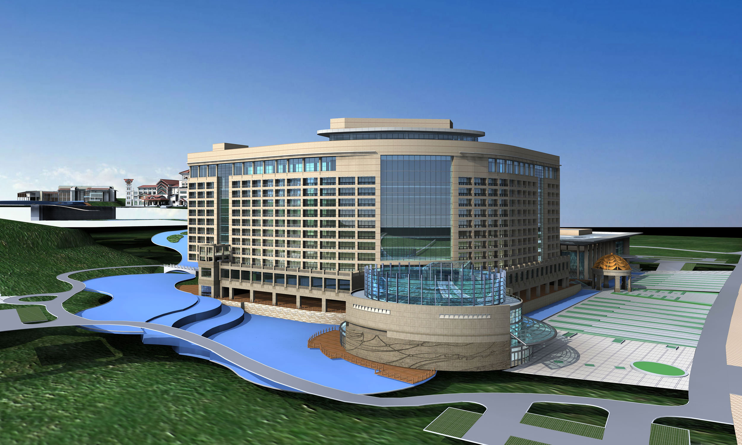 5 star hotel building 3d model max 3ds for 5 star hotel architecture