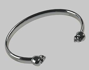 silver Skull Bracelet 3D printable model