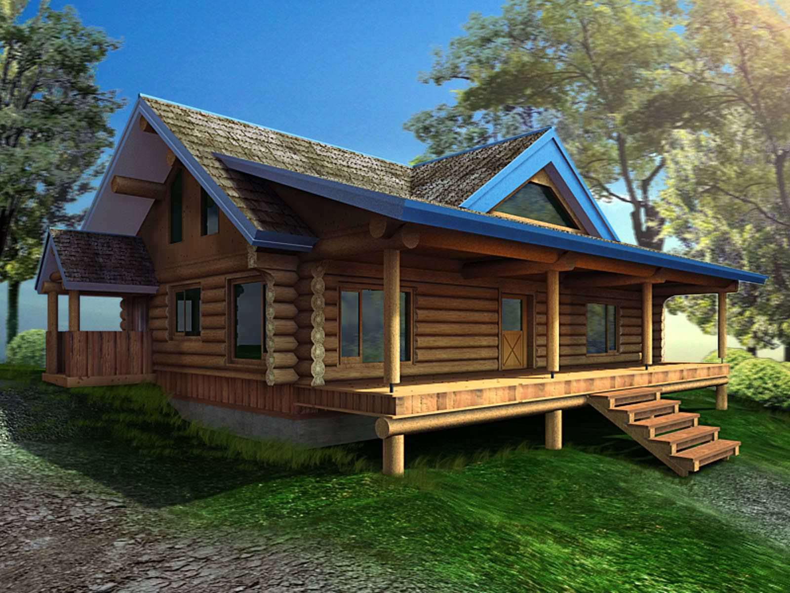 Exquisite Bungalow For Resort And Personal Use 3D Model