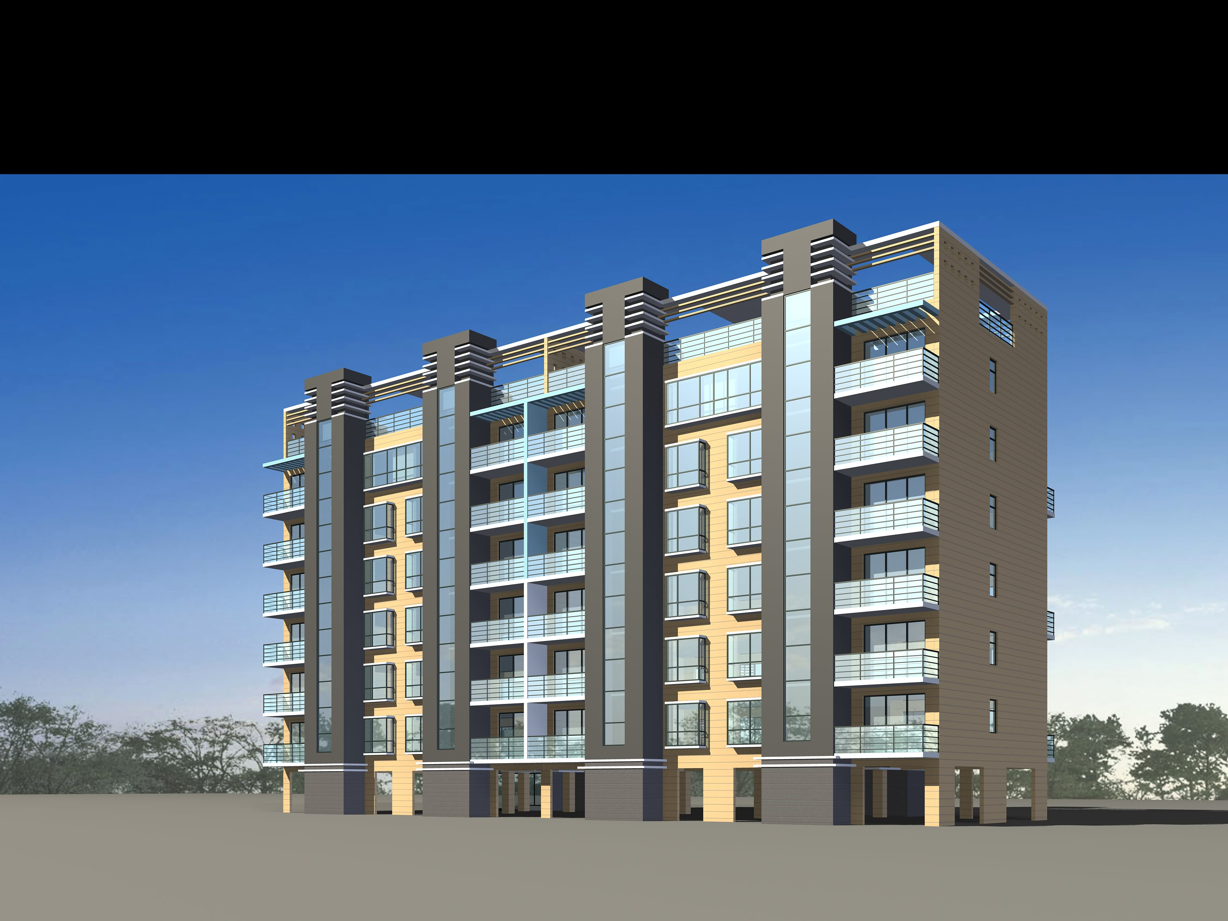 Residential Apartments 3d Model Max 3ds 1 ...