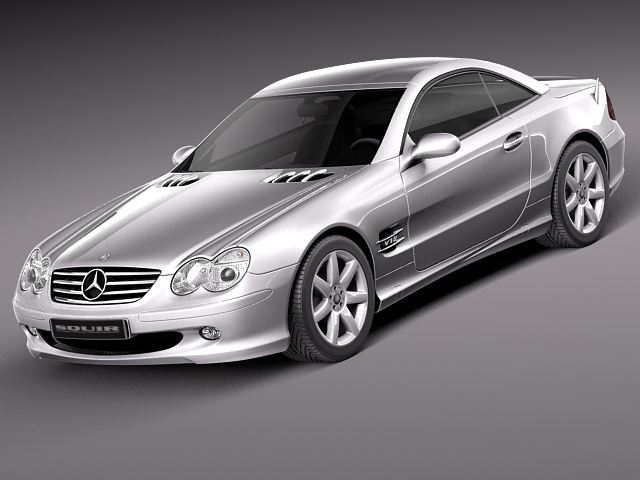 mercedes benz sl 2003 2007 3d model 3d model max obj