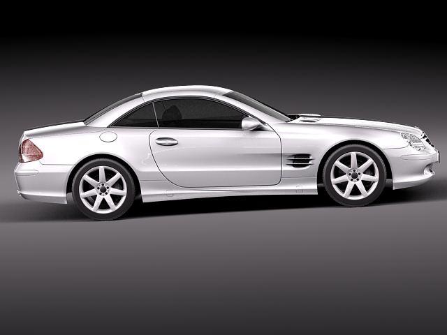 Mercedes benz sl 2003 2007 3d model 3d model max obj for Mercedes benz different models