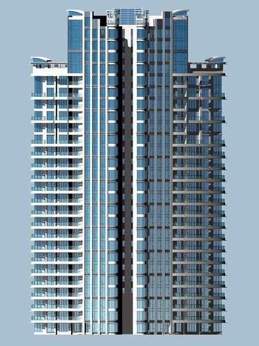... high rise architectural skyscraper 3d model max 3ds 4 ...