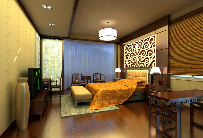 Renders 3d For Master Bedroom Project: Master Bed Room 3D