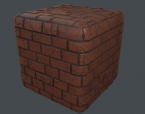 3D model PBR Stylized Wall Materials Pack