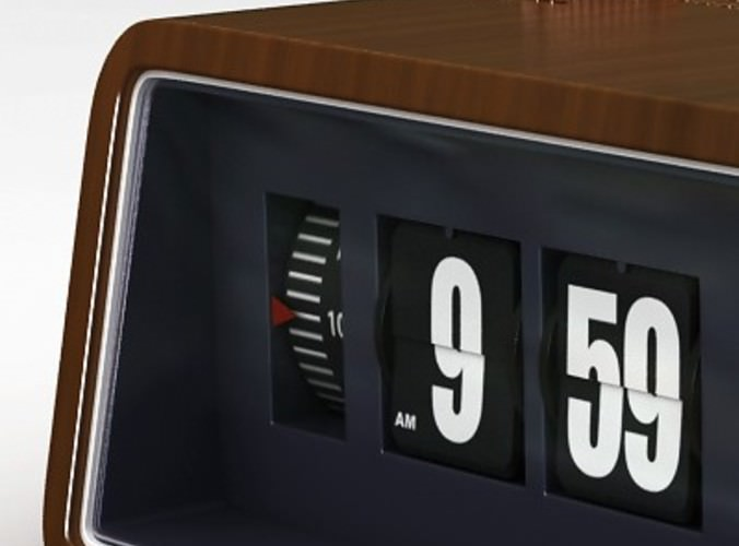 Retro Flip Airline Display Style Clock With Alarm Function