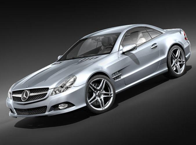 Mercedes benz sl 2009 3d model max 3ds for Mercedes benz different models