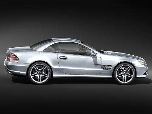 Mercedes Benz Sl 2009 3d Model Max 3ds Cgtrader Com