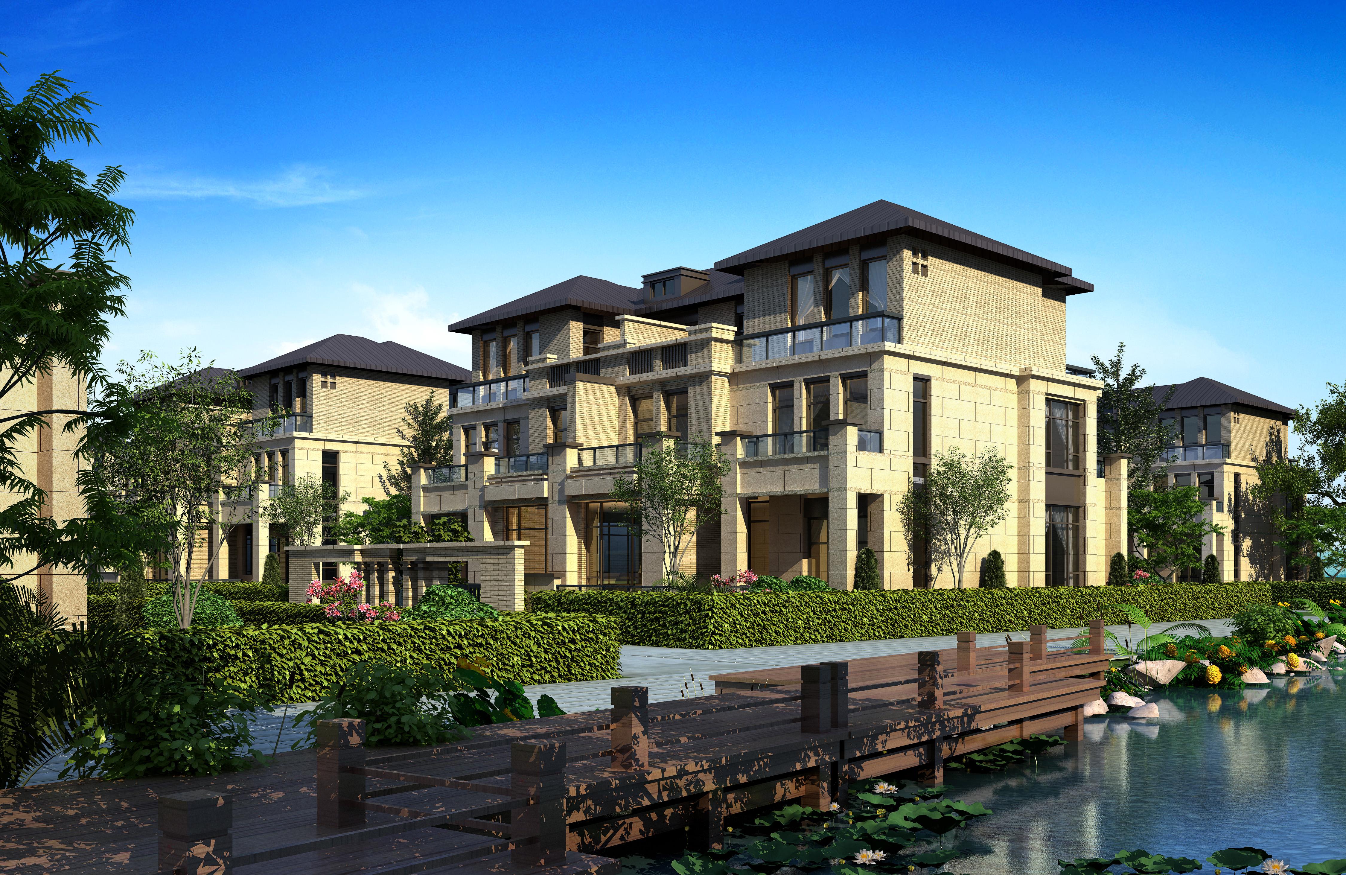3d villa 027 3d model max for Villas 3d model