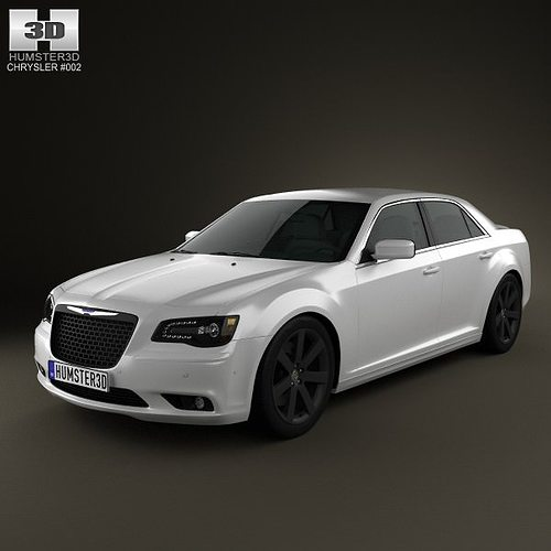 3d chrysler 300 srt8 2012 cgtrader. Black Bedroom Furniture Sets. Home Design Ideas