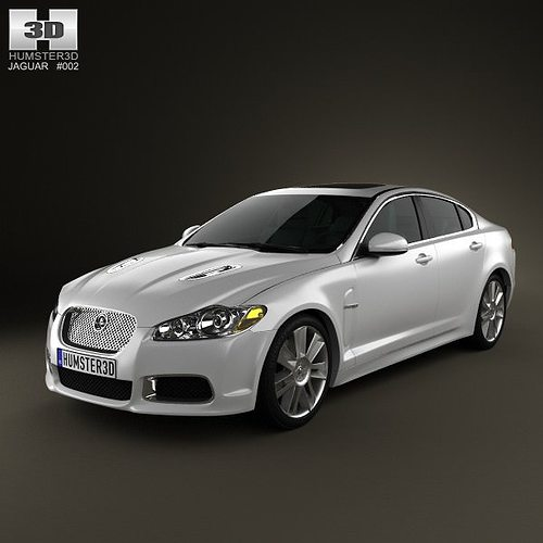 2010 Jaguar Coupe: Jaguar XFR 2011 3D Model