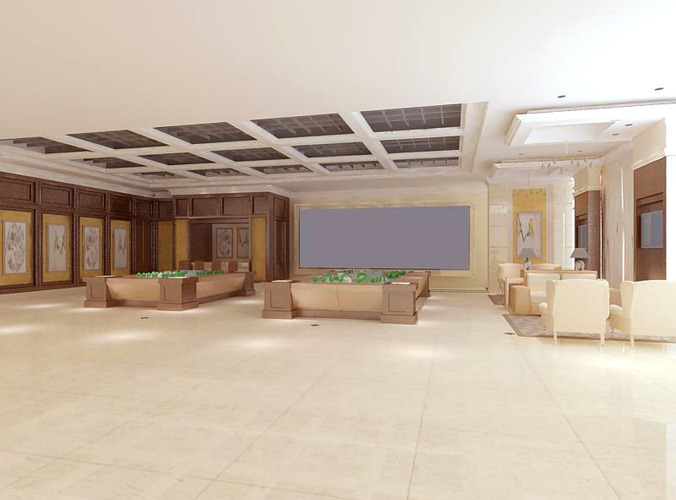 Exhibition Hall D Model : Spacious modern exhibition hall d model cgtrader