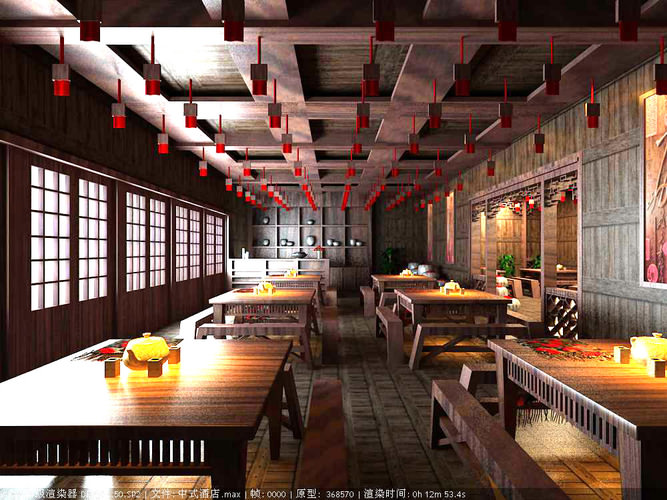 Modern Restaurant with Authentic Interior3D model