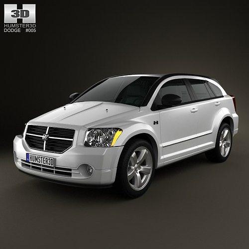 Dodge Caliber 2010 3D Model MAX OBJ 3DS FBX C4D LWO LW LWS