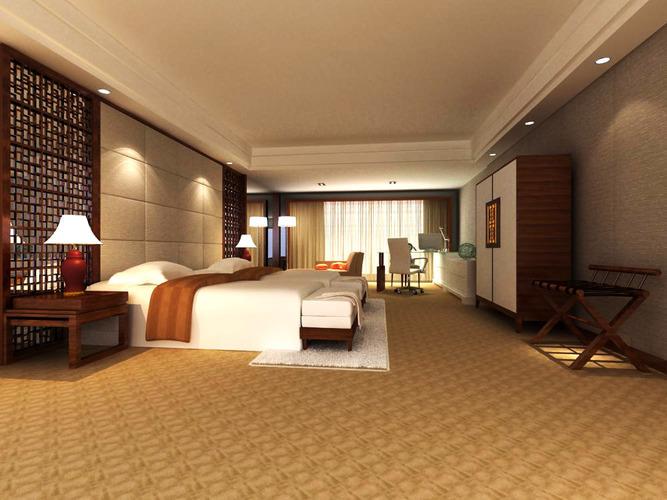Spacious Modern Bedroom3D model