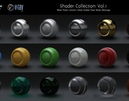 Material set Vol 1 for Vray 3D model