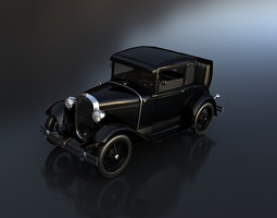 Ford coupe 1930 3D Model