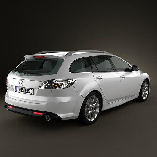 Mazda 6 Wagon 2011 3D   CGTrader