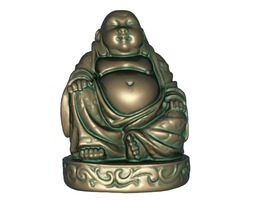 Maitreya mascot 3D print model 3D asset low-poly