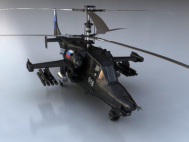 ka-50 black shark  3d model max fbx 1