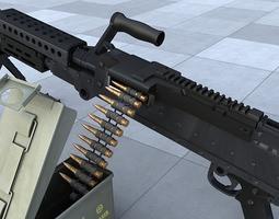 3D model M240 Machine Gun
