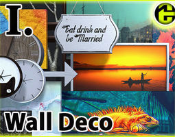 3D model Picture Frame and Wall Decoration
