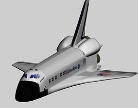 Space Shuttle 3D model animated