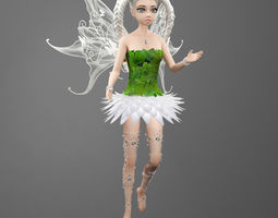 3D asset rigged Fairy Whitneyt