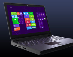 rigged realistic laptop computer 3d
