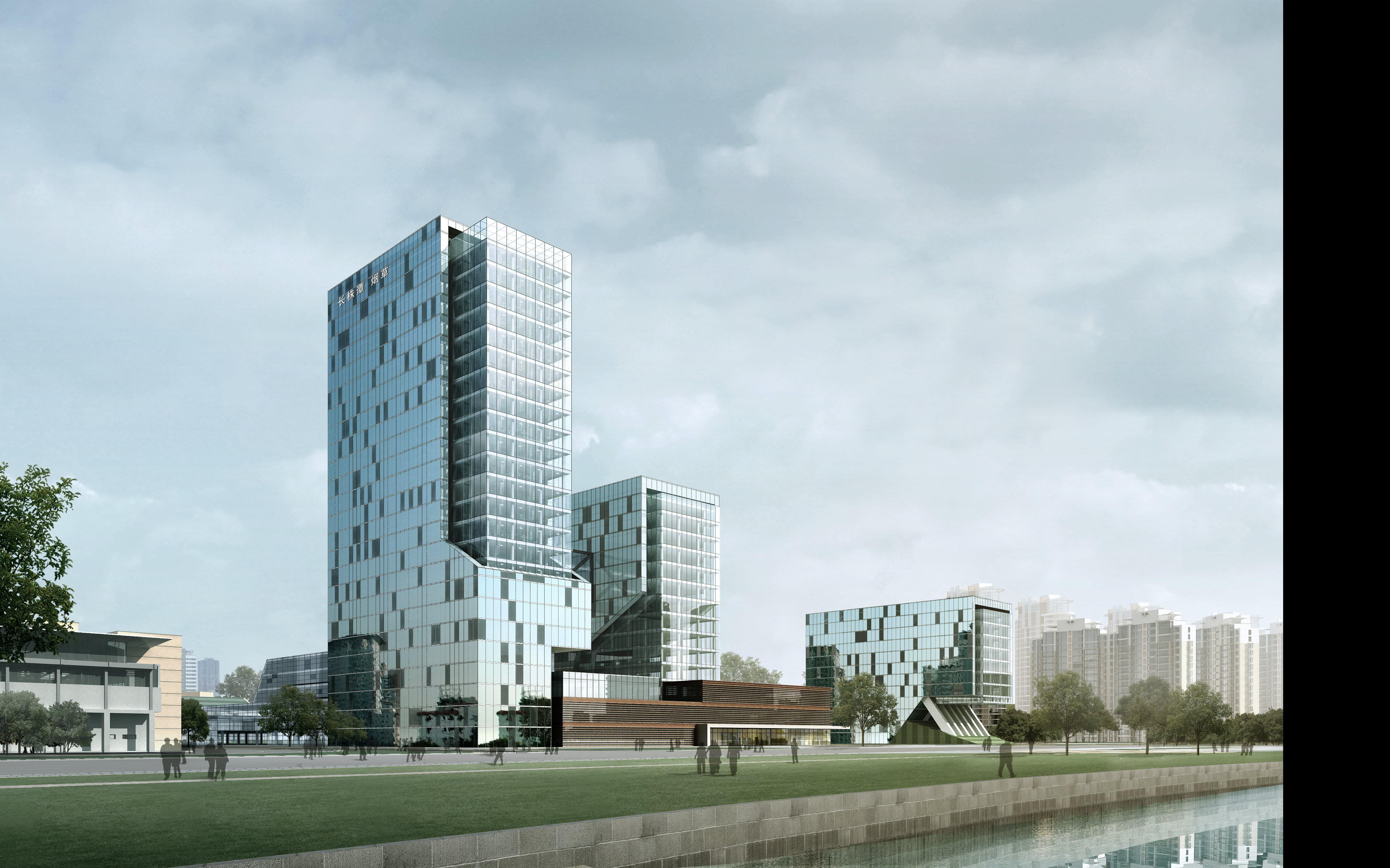 ... modern city skyscraper 3d model max 2