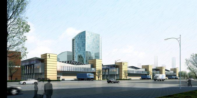 Modern City skyscraper3D model