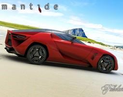 Bertone Mantide concept 3D