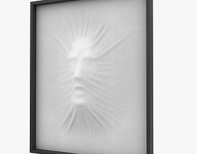 3D model decoration Art object composition face wall