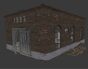 Old Soviet Vehicle Garage 3D asset