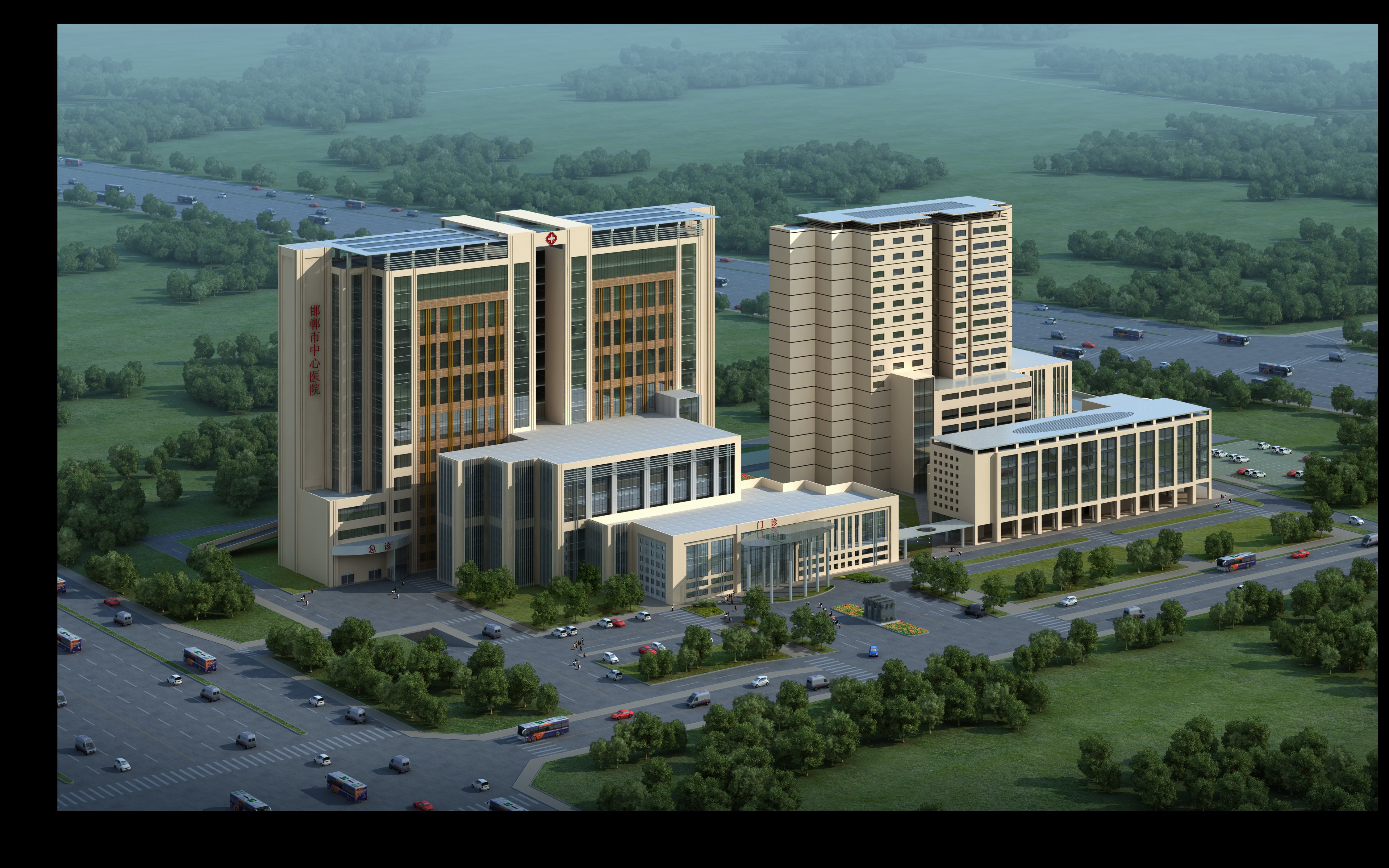 Modern hospital 3d model max for Exterior 3d model