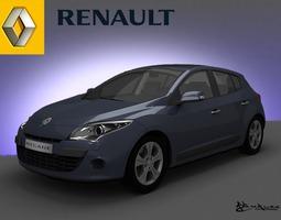Renault Megane Hatchback 2009 3D Model