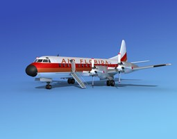 3D model Lockheed L-188 Electra HP Air Florida