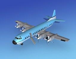 3D Lockheed L-188 Electra HP Corporate 3