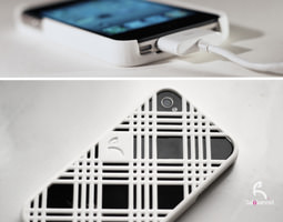 3d print model stripes case for iphone 4