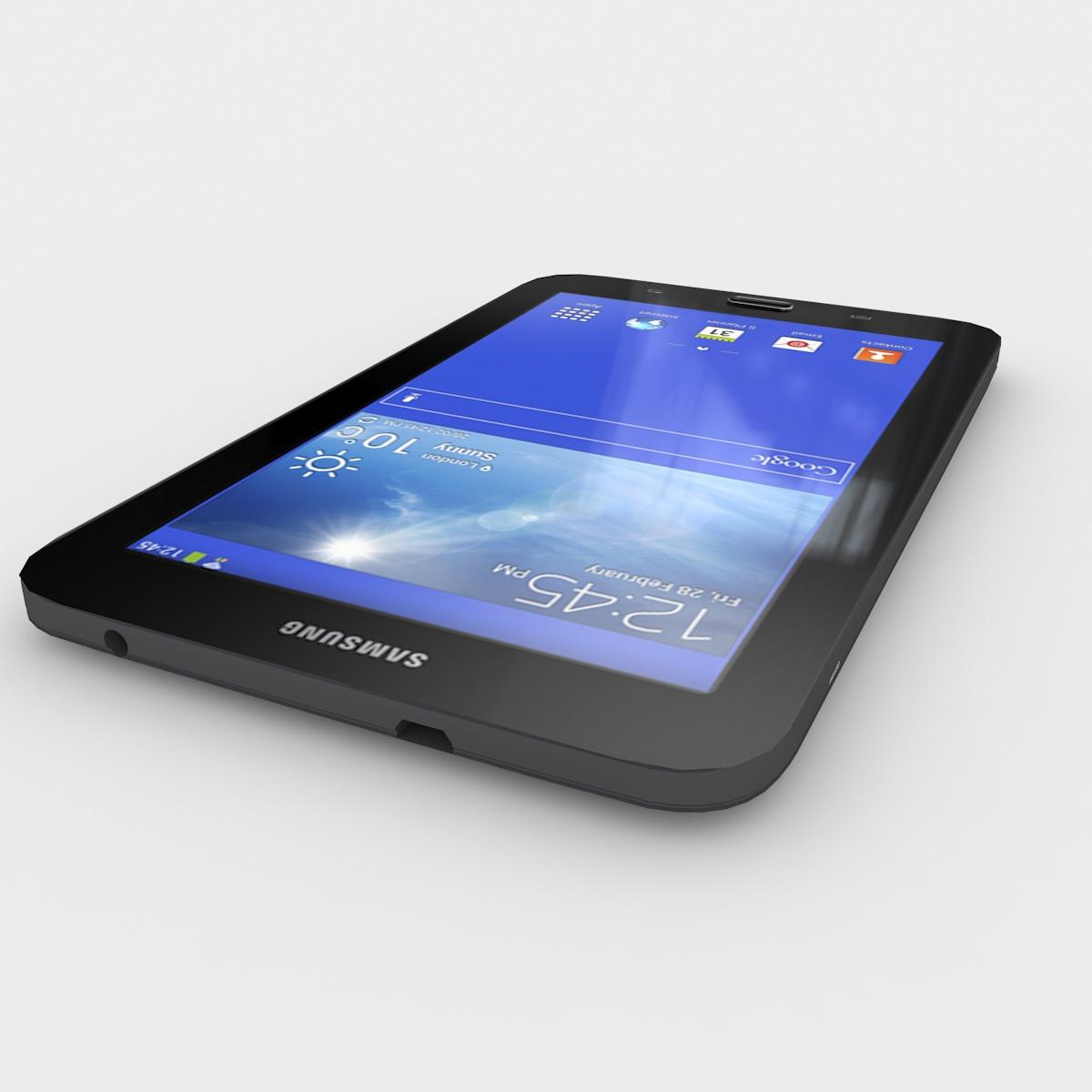 samsung galaxy tab 3 lite 7 0 black 3d model max 3ds fbx lwo lw lws ma mb lxo lxl. Black Bedroom Furniture Sets. Home Design Ideas