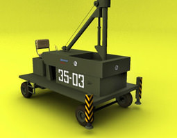 nato aircraft ground support component 3D model