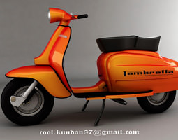 scooter lembretta  3D Model