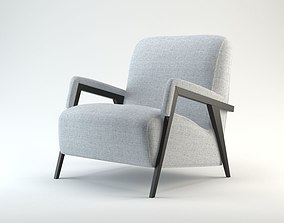 3D garment Upholstered Armchair Model