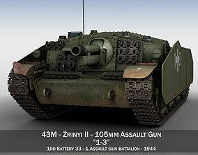 43M Zrinyi II - Hungarian Assault Gun - 1rd 3D model 1