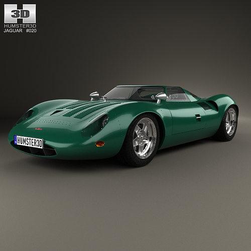 1966 Jaguar Xke Convertible: Jaguar XJ13 1966 3D