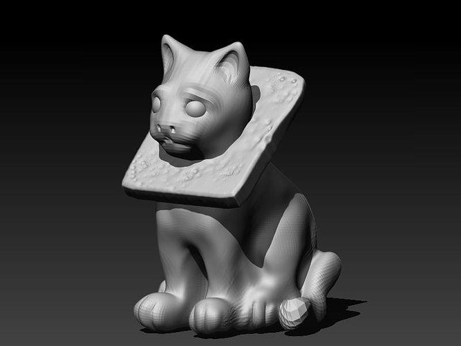 cat breading 3d model stl ztl 1
