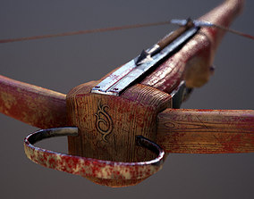 AAA Animated Light Medieval Crossbow 3D asset