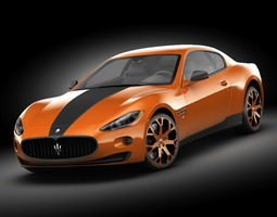 Maserati GT Masonry mod 3D Model