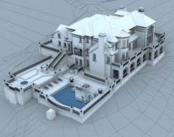 3d Models Luxury Contemporary House 3d Model Max Obj